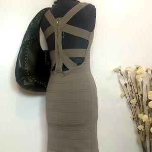 Bodycon Bandage Midi Dress